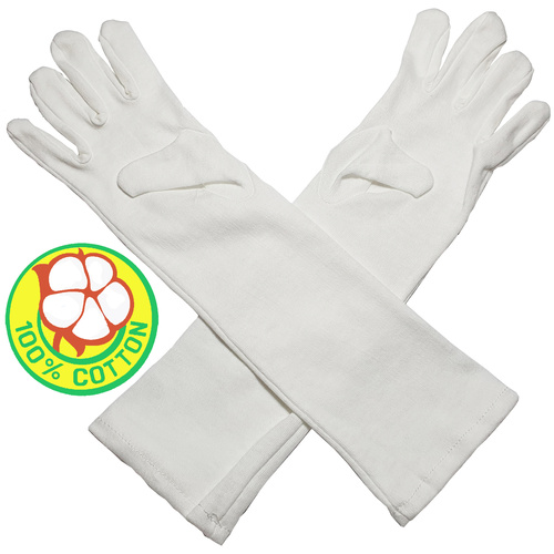 Cotton Gloves Kids - Extra Long Cuffs
